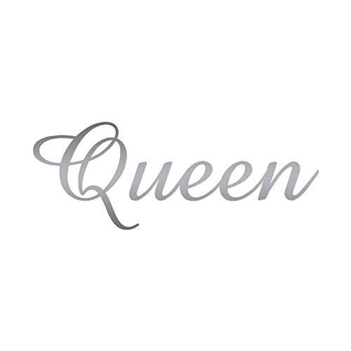 "Queen - Vinyl Decal Sticker - 12"" x 4.5"" - Silver"