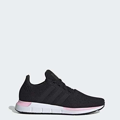adidas Originals Women's Swift Running Shoe, Black/Black/True Pink, 7.5 M US