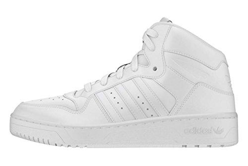 Adidas WOMEN'S Mid Attitude Revive Fashion Leather Sneaker White shoes (8.5)