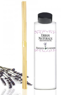 French Lavender Fields Reed Diffuser Refill & Set of Replacement Reed Sticks | Aromatherapy by Urban Naturals | Aromatic Stress Relief, 4 oz.