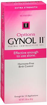 - Options Gynol II Vagina Contraceptive Jelly Extra Strength - 2.85 oz, Pack of 3
