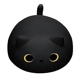 Black Cat Plush Pillow | Mogu Mike Big Eyes Plushie 4