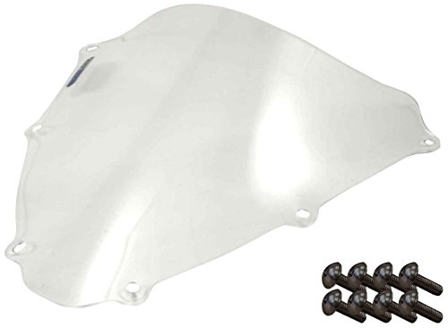 Sportbike Windscreens ADSW-203C Clear Windscreen (Suzuki Gsxr 600/750 (06-07) With Silver screw kit),2 Pack
