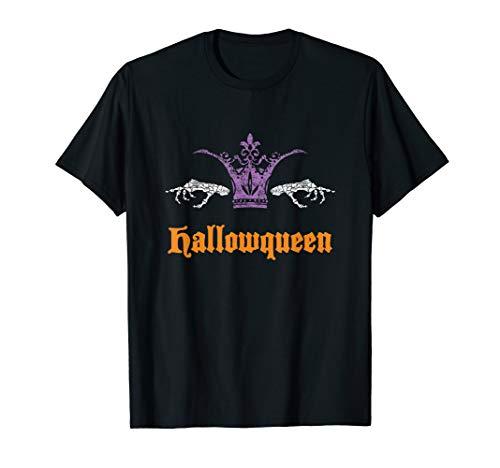 Funny Hallowqueen T-shirt Queen Halloween Costume