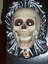 8 5 Inch Animated Led Light Up Skull Doorbell   Spooky Halloween Sounds