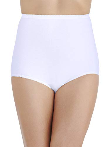 Plus Size Perfectly Yours Tailored Cotton Brief Panty 15318, Star White, X-Large/8 ()
