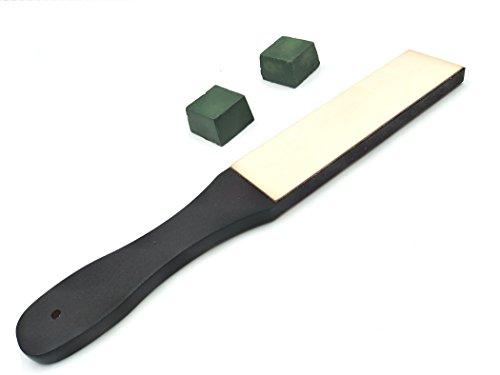 Inton Leathercraft Knife Blade Sharpener Whetstone Stand Rouge Stick Leather Sharpener Grinding Set (Japanese) by Inton (Image #8)