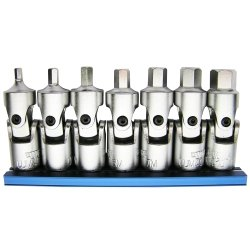 Vim Tools VIMUJM400 Universal Joint Metric Hex Driver Set, 3M - 10M
