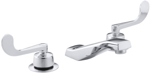 KOHLER K-7443-5A-CP Triton Widespread Lavatory Faucet, Polished Chrome