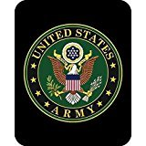 - Us Army Emblem Medium Weight Queen Size Faux Fur Blanket