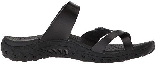 a8d95dd73bf Skechers Women s Reggae-Carribean-Double Buckle Toe Thong Slide Sandal