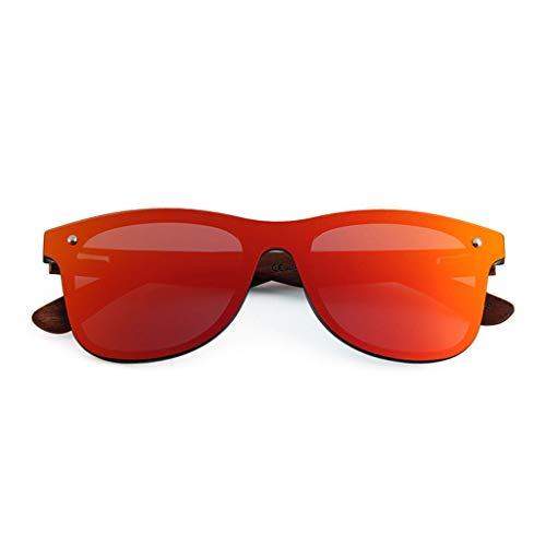 réel Demi UV400 Bambou en polarisées qualité Protection Soleil de Bois Plein en Haute Lunettes en en de Anti LSX UV Bois de métal Cadre Hommes Lunettes Femmes air Red LX lentille de Film qOw0U7W