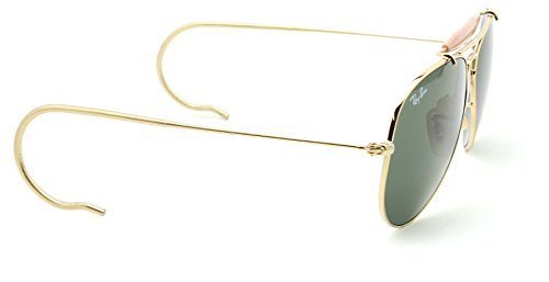 Ray-Ban RB3030 L0216 OUTDOORSMAN Cable Temples Aviator Sunglasses, 58mm