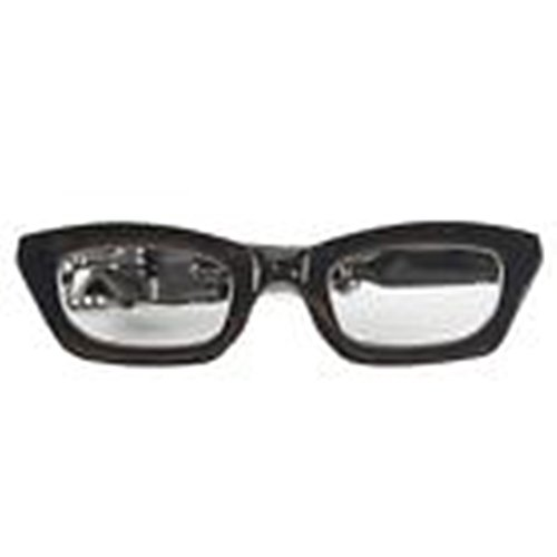 [Mondaily - Glasses Glass Wayfarer Tie Clip Silver Black Wedding Bar Clasp #PPTE5007] (Cats Musical Costume Rental)