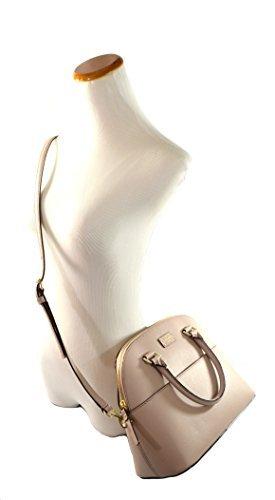Kate Spade Grove Street Carli Leather Crossbody Bag Purse Satchel Shoulder Bag (Almondine)