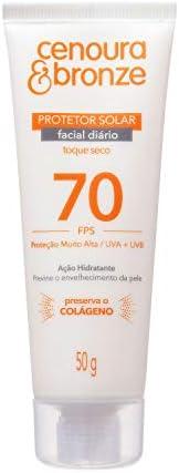 Cenoura e Bronze Protetor Solar Facial Fps70 - 50 g