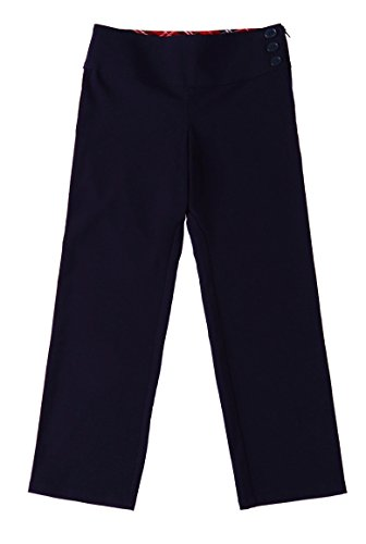 - Bienzoe Girl's School Uniforms Stretchy Polyester Adjust Waist Flat Front Pants Navy 10