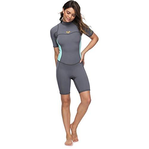7a3538ac4887 Roxy Womens 2/2 Syncro Ser Bz Short Sleeve Sp Flt Deep Grey Glicer Bl Full Wetsuit  Size 12