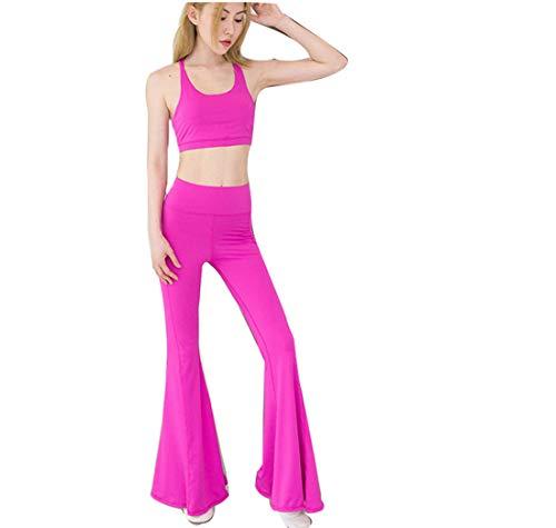 Pantaloni Rapida Running Donne Hight Pink Tromba Yoga Che Slim Asciugatura Leggings Sport Calzamaglia Modella Vita Anca Sexy Lady Fondo Gym Workout 4XXq68w