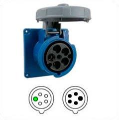 Hubbell HBL5100R9W AC Receptacle IEC60309 5100R9W IEC 309 Pin & Sleeve