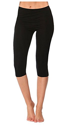 Janisramone-New-Girls-Kids-Gymnastics-Dance-Wear-Plain-Cropped-34-Leggings-Capri-Pants