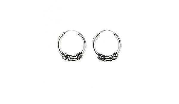 Liara Polished And Nickel Free Bali 14Mm Ear Hoops 925 Sterling Silver