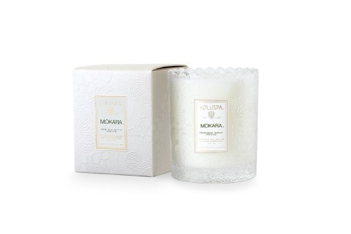 Voluspa Mokara Scalloped Edge Glass Limited Candle 6.2 oz