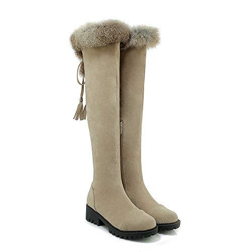Scarpe Beige Con Basso Boots Da Tacco Donna Women's 1O5Avq