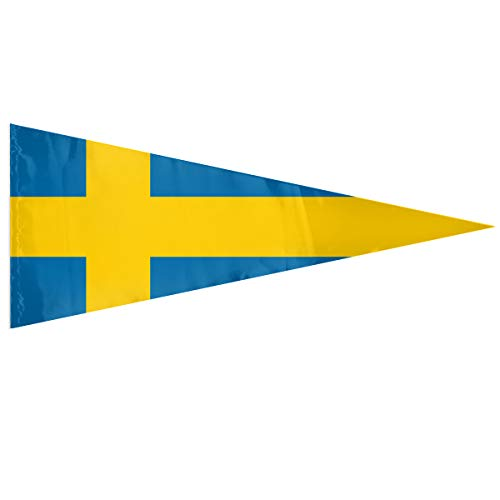 XKAWPC Flag of Sweden 12 X 30 Inches Pennant DIY Premium Quality Bunting Flags ()