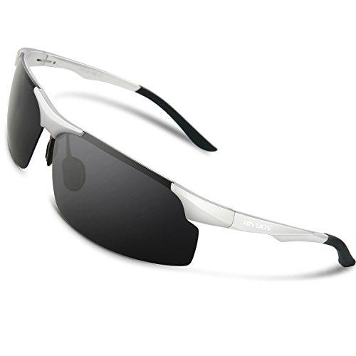 RIVBOS Polarized Sports Sunglasse for Men Women, Glasses for Cycling Running Fishing Golf Baseball Fashion Metal Frames RBS091 - Sunglasse Polarized