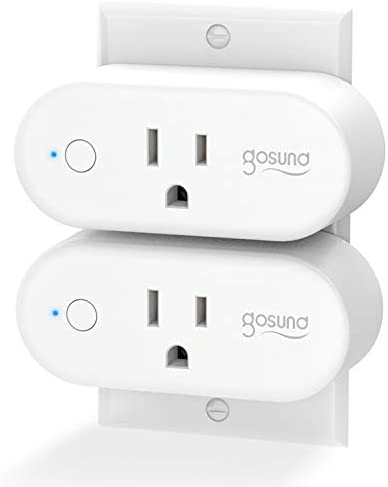 Gosund Smart Plug WiFi Outlet 15Amp Socket Compatible with Alexa Google Home Plugs, Voice and App Control, Schedule and Timer, No Hub Required, 2 Pack [Upgraded Version]