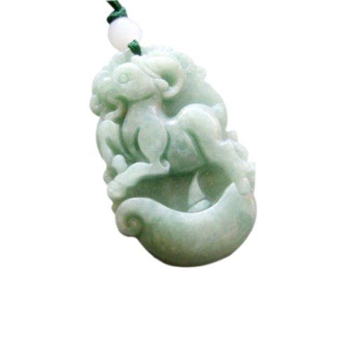 Jadeite Jade Chinese Zodiac Fortune Sheep Amulet Pendant Chinese Sheep Zodiac Pendant