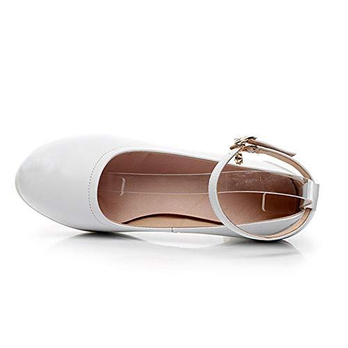 Blanca Shoes 25 Cuero de Vaca Cm Soft Dance Tamaño a 5 Primavera de 5cm Cm Altura Hutt 22 Lady 0 Adulto Shoe tacón Latin de waqn7SxR7