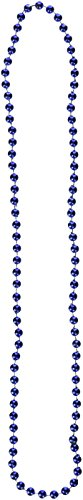 One Dozen 33-inch Long Blue Beaded Necklaces - Party Accessory (7mm Beads)