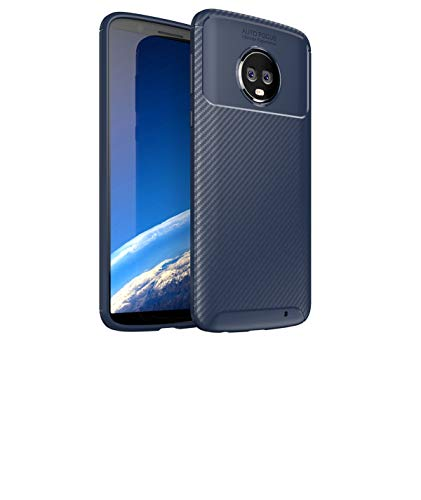 Motorola Moto G6 Plus Case, Forhouse Anti-Scratch Slim Soft TPU Bumper Flexible Rubber Silicone Shockproof Case for Motorola Moto G6 Plus (Dark ()