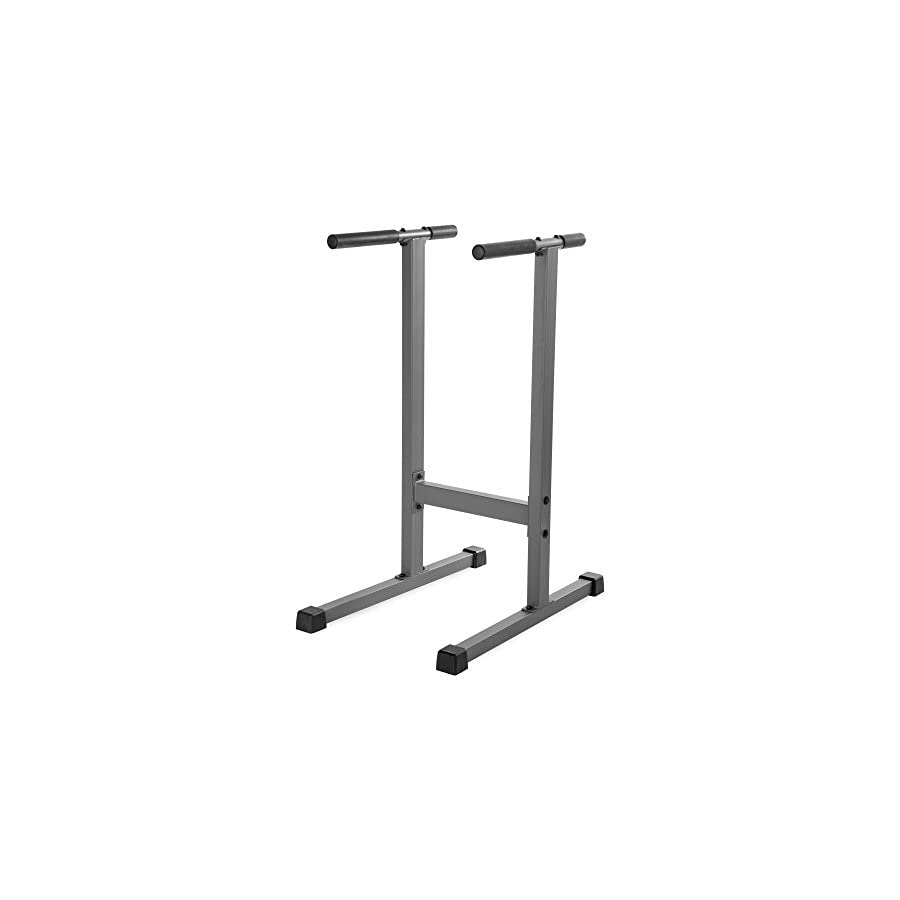 XMark Fitness Dip Station 500 lb. Weight Capacity Uniquely Engineered Angled Uprights Accommodate Men and Women XM 4443
