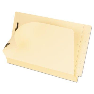 Esselte Fastener Folder - Laminated Spine End Tab Folder with 2 Fasteners, 11 pt Manila, Legal, 50/Box