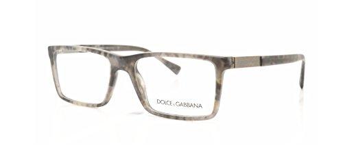 Dolce & Gabbana Logo Plaque Eyeglasses DG3217 2802 Camouflage Matte Grey 55 17 - And Gabbana Men Dolce Glasses