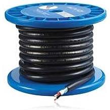 AUVIO® Round Pro Premium Speaker Cable - 25-Ft. Roll of 15AWG Round Speaker Wire (Dark Blue)