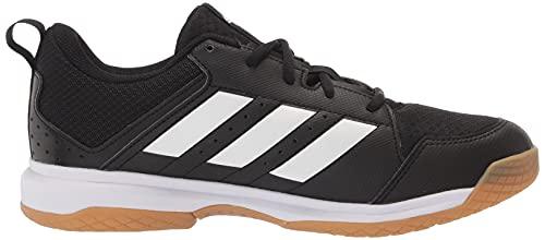 adidas Women's Ligra 7 Track and Field Shoe, Black/White/Black, 12