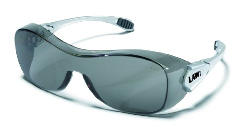 MCR OG112AF Crews Law OTG Over The Glass Safety Glasses Grey Lens Anti-Fog 1 Pair