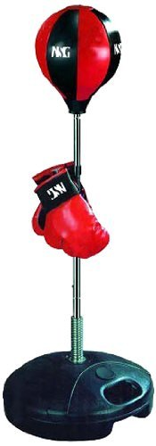 (NSG Jr Training Boxing Set - Includes Bounce Back Punching Ball & Kids Boxing Gloves, Red/Black)