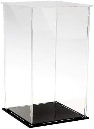 LANSCOERY Acryl Vitrine Selbstmontage Showcase Display case Schaukasten Boxen für Spielzeug Modell Sammlerstücke (15x15x25cm; 6x6x10 inch)