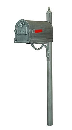 Special Lite SCS-1014-SPK-679-VG Savannah Curbside with Richland Mailbox Post44; Verde Green