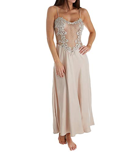 Flora Nikrooz Women's Showstopper Gown, Champagne, Medium - Flora Champagne