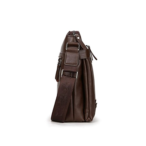 Leisure Section Handbag Oblique Briefcase Shoulder Bag Male Pu Package Brown Fashion Vertical Cross qwZCIFX
