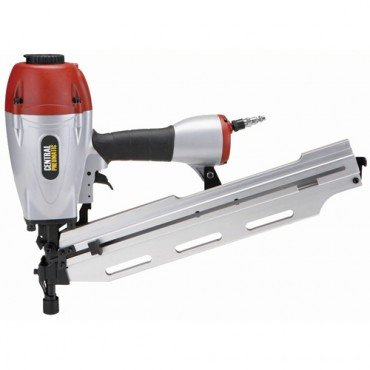 "3-in-1 Air Framing Nailer with adjustable magazine for 2"" to 3-1/2"" clipped or full-head nails collated at 21°, 28° and 34°"
