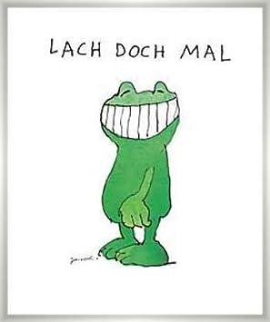 Janosch Lach doch mal Poster Kunstdruck Bild im Alu Rahmen 58x48 cm