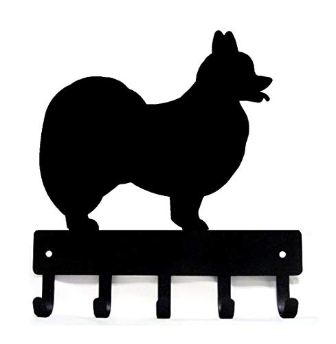 The Metal Peddler Papillon Dog - Key Hooks & Holder - Small 6 inch Wide