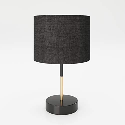 PLAYBOY Designer tafellamp met zwarte lampenkap van stof, geschikt als tafel- of decoratieve lamp, bedlampje, bureaulamp…